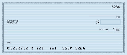 How to write a check front and back